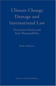 Climate change damage and international law by Roda Verheyen