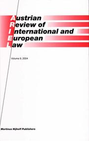 Austrian Review of International and European Law
