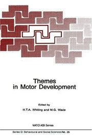 Themes in Motor Development (Nato Science Series D:)