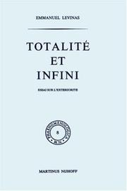 Totalit et infini by Emmanuel Lvinas
