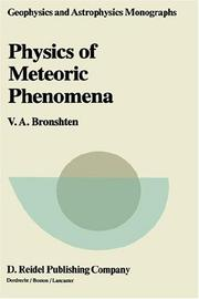 Physics of meteoric phenomena by Vitaliĭ Aleksandrovich Bronshtėn