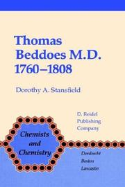 Thomas Beddoes, M.D., 1760-1808 by Dorothy A. Stansfield