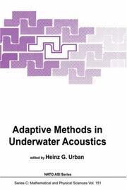 Adaptive Methods in Underwater Acoustics PDF