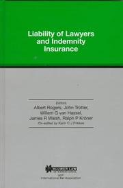 Liability of Lawyers and Indemnity Insurance for the Legal Profession PDF