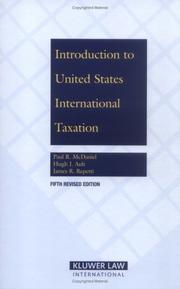 Introduction to United States international taxation by Paul R. McDaniel