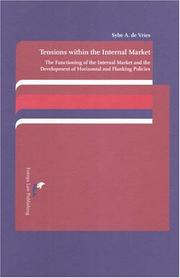Tensions Within the Internal Market PDF