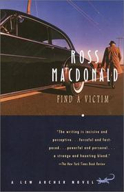 Find a victim by Macdonald, Ross