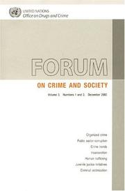 Forum on Crime and Society 2003 (International Review of Criminal Policy)