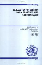 Evaluation of certain food additives and contaminants by Joint FAO/WHO Expert Committee on Food Additives.