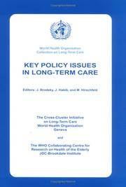 Key Policy Issues in Long Term Care PDF