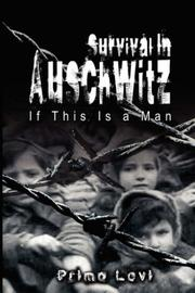 Cover of: Survival In Auschwitz by Primo Levi