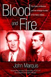 Blood And Fire by John Marquis