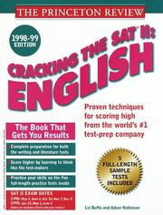 Cracking the SAT II by John Katzman