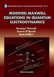 Modified Maxwell equations in quantum electrodynamics by Henning F. Harmuth