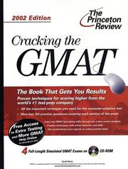 Cracking the GMAT with CD-ROM, 2002 Edition (Cracking the Gmat With Sample Tests on CD-Rom) PDF