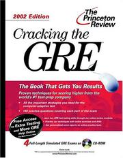 Cracking the GRE by Karen Lurie