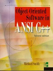 Object-Oriented Software in ANSI C++