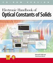 Electronic Handbook of Optical Constants of Solids CD-ROM