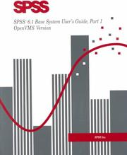 SPSS 6.1 Base System User's Guide Part 1 and SPSS 6.1 Base System User's Guide Part 2 Package PDF