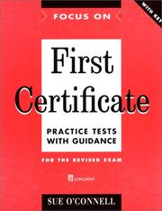 Focus on First Certificate by Sue O'Connell