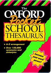 The Oxford Pocket School Thesaurus PDF