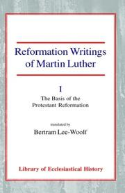Reformation writings of Martin Luther PDF