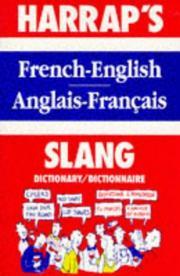 French Slang Dictionary (Harrap)