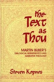 The text as thou by Steven Kepnes