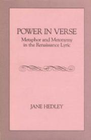Power in verse by Jane Hedley