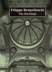 Filippo Brunelleschi by Howard Saalman