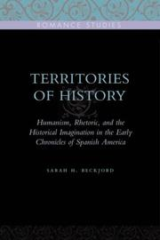 Territories of history by Sarah H. Beckjord
