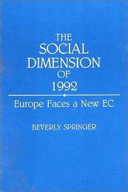 The social dimension of 1992 by Beverly Springer