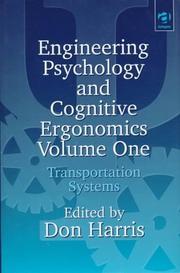 Engineering Psychology and Cognitive Ergonomics PDF