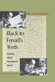 Back to Freud's texts PDF