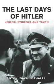 Hitlers Ende by Anton Joachimsthaler