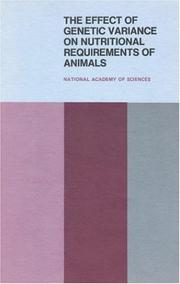 The Effect of Genetic Variance on Nutritional Requirements of Animals PDF