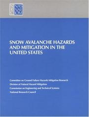 Snow avalanche hazards and mitigation in the United States PDF