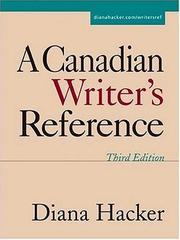 A Canadian Writer's Reference PDF