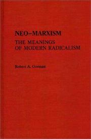 Neo-Marxism, the meanings of modern radicalism PDF