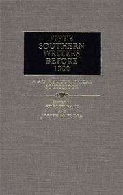 Fifty Southern Writers Before 1900 PDF