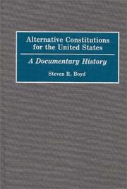 Alternative Constitutions for the United States PDF