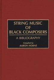 String music of Black composers by Aaron Horne