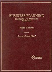Problems and materials in business planning PDF