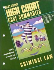 High Court Case Summaries on Criminal Law PDF