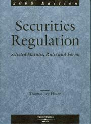 Securities Regulation by Thomas Lee Hazen