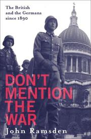 Don&#39;t Mention the War by John Ramsden