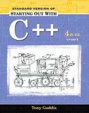 Starting Out with C++, Standard Version 2005 Update Package PDF
