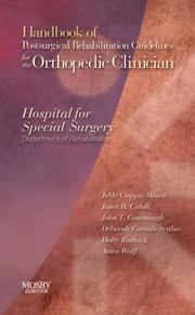 Handbook of Postsurgical Rehabilitation Guidelines for the Orthopedic Clinician