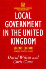 Local Government in the United Kingdom (Government Beyond the Centre) PDF