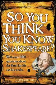 So You Think You Know Shakespeare? (So You Think You Know) PDF